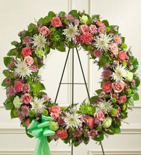Serene Blessings Pastel Standing Wreath