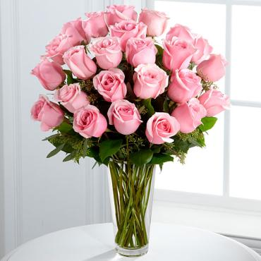 The Long Stem Pink Rose Bouquet