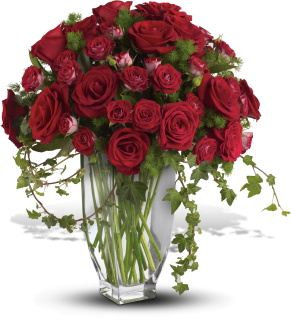 Rose Romanesque Bouquet - Red Roses