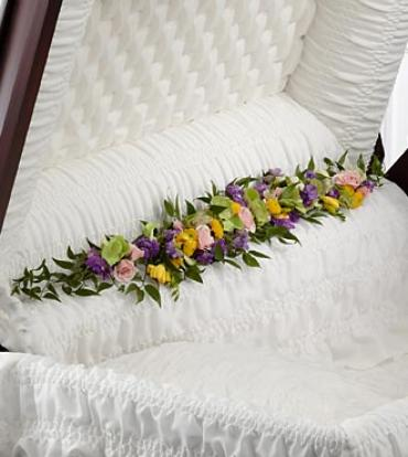 "The Trail of Flowersâ""¢ Casket Adornment"