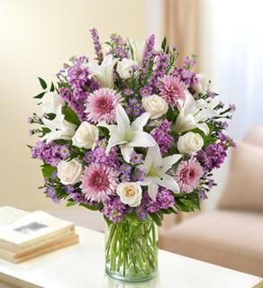 Ultimate Elegance Lavender and White