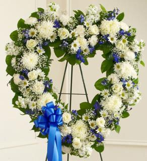 Always Remember Blue & White Heart Tribute