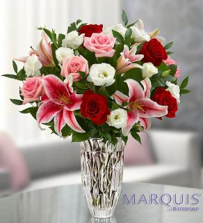 Marquis by Waterford Blushing Rose and Lily Bouquet