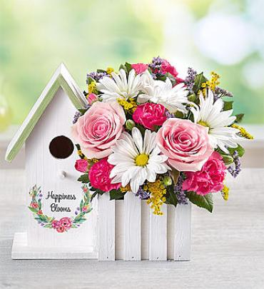Happiness Blooms Birdhouse Pink