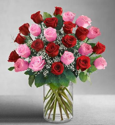 Ultimate Elegance Pink & Red Roses