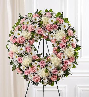 Serene Blessings Wreath- Pink & White