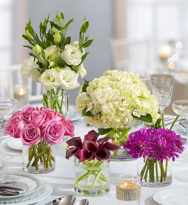 Purple Elegance Centerpiece Package