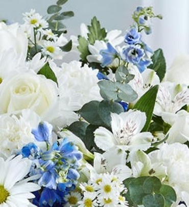 Florist Choice Bouquet Blue and White