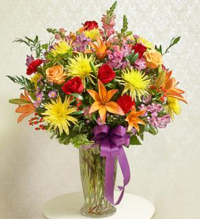 Beautiful Blessings Bright Vase Arrangement