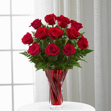 The Anniversary Rose Bouquet - 12- Stems