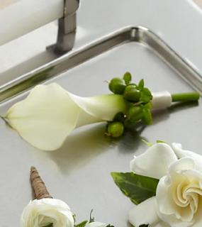 The White Calla Boutonniere